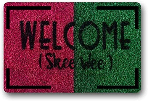 LAN SHAN QUE Door Mat Combo Set Welcome Mat Outdoor Indoor 18 x28 Home Sweet Home Non Slip Backing Buffalo Plaid Rug 24 x51 Black and White for Layered Easy Clean Decorative Entrance Front Door Mat