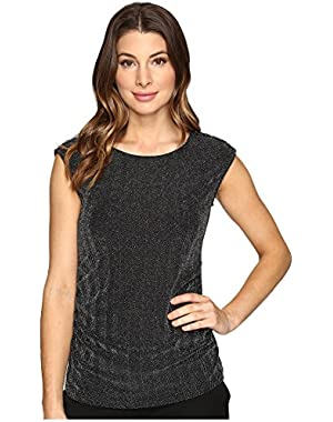 Calvin Klein Womens Lurex Top with Buttons