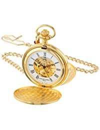 Charles-Hubert, Paris Gold-Plated Mechanical Pocket Watch (3575-G)