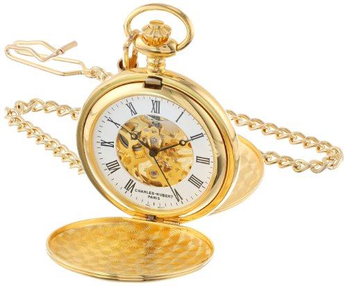 - Charles-Hubert, Paris Gold-Plated Mechanical Pocket Watch