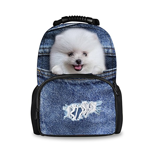 Cowboy Face - CHAQLIN Cool Cowboy Puppy Face Adults Women's Men's Travel Daypack