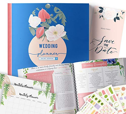 (Online Wedding Planner | Step-By-Step Binder to Organize Your Dream Day Using Stickers, Photos & Pictures | Journal For Organizing a Wedding by Yourself | Gift for Brides | )