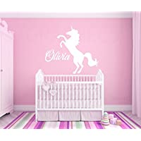Unicorn Custom Name Wall Vinyl Decal Sticker Personalized Girls Bedroom Home Decor