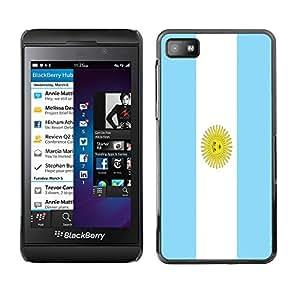 - Flag - - Hard Plastic Protective Aluminum Back Case Skin Cover FOR Blackberry Z10 Queen Pattern