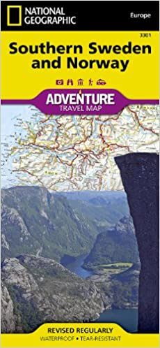 Southern Sweden And Norway National Geographic Adventure Map - Norway map amazon