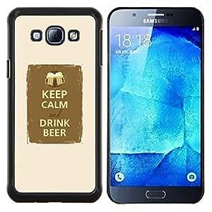 EJOOY---Cubierta de la caja de protección para la piel dura ** Samsung Galaxy A8 A8000 ** --mantener copa tranquila fiesta de la cerveza fraternidad