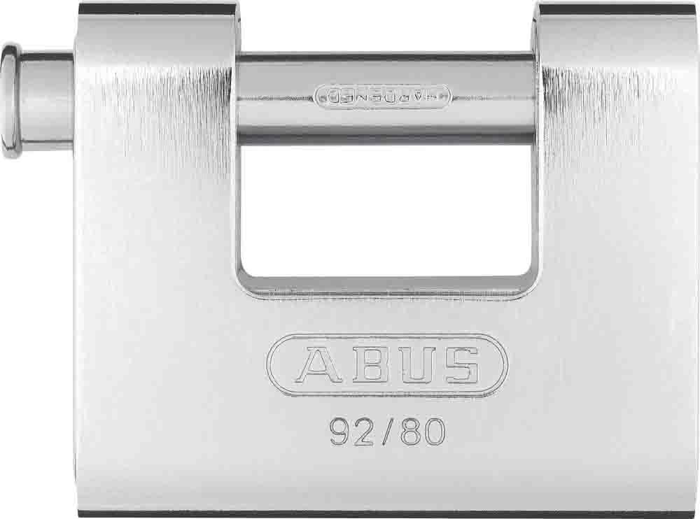 ABUS 200601 92//80/_KA8522 Candado monoblock rectangular blindado 80 mm llaves iguales