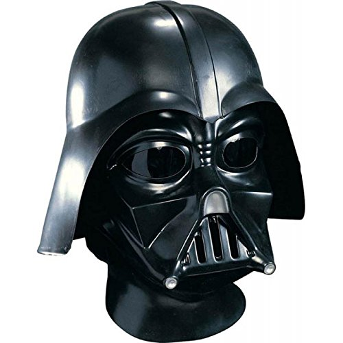 Darth Vader Face Mask (Star Wars Darth Vader Deluxe Adult Full Face Mask, Black, One Size)