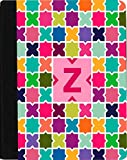 Rikki Knight Letter Z Monogram Vibrant Hot Pink Edgy Mosaic Design Faux Leather Case for Apple iPad Mini (Not for iPad Mini 4)
