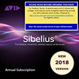 Sibelius 2018 Professional for Students and Teachers Annual Subscription (Download Card)