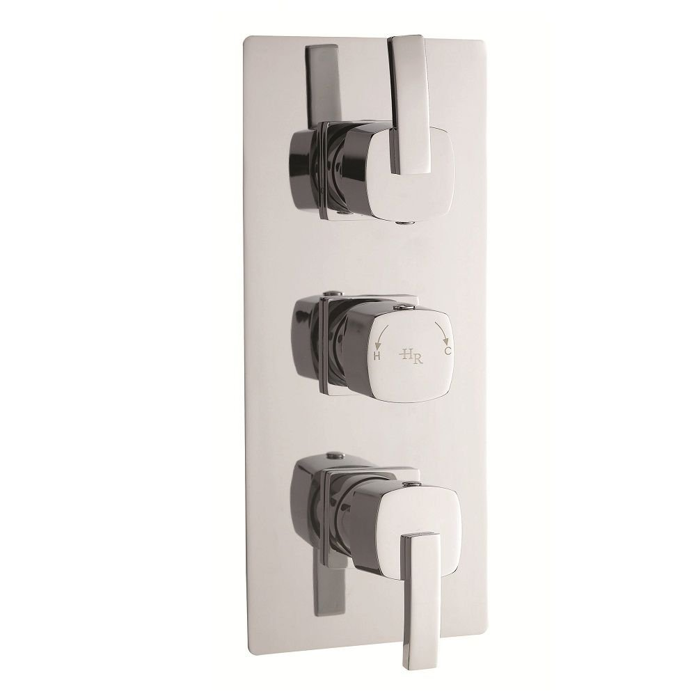 Arcade Triple Concealed Thermostatic Shower Valve with Built-in ...