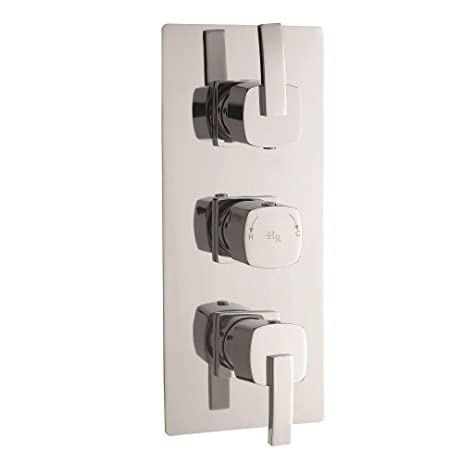 Arcade Triple Concealed Thermostatic Shower Valve With Built In Diverter 3  Outlet Options
