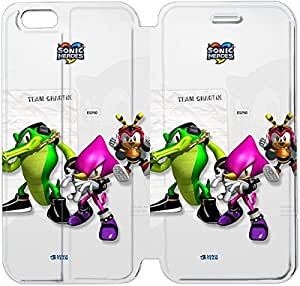 Flip Folio Leather Case for iPhone 6 4.7 inch Cell Phone Case Sonic Heroes Team Chaotix VVB1722031