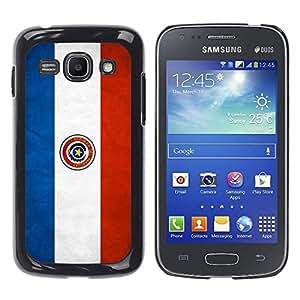YiPhone /// Prima de resorte delgada de la cubierta del caso de Shell Armor - Paraguay Grunge Flag - Samsung Galaxy Ace 3 GT-S7270 GT-S7275 GT-S7272