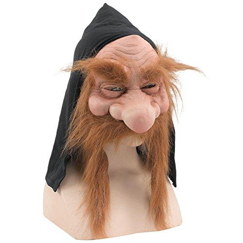 Mad Goblin Mask - Bristol Novelty BM232 Gnome with Hood/Beard