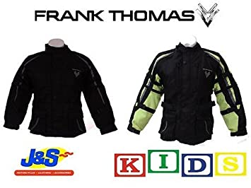 4ecfd9964cf Image Unavailable. Image not available for. Colour: FRANK THOMAS FTW420  KRAG KIDS MOTORCYCLE JACKET TEXTILE ...