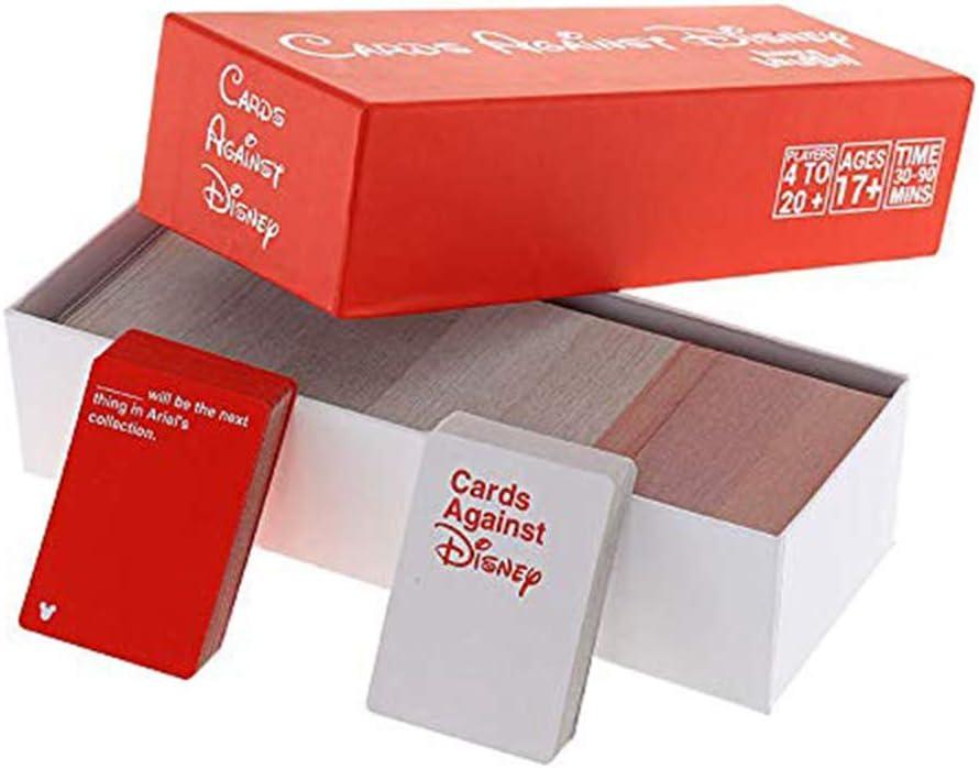 EDG Cards Against Humanity Disney Edition - Juegos de Mesa incohearent para Adultos - Expansión Crazy Party Card Game Toy - Regalos para Hermanos Amigos Hombres Mujeres, Caja roja/Negra,A