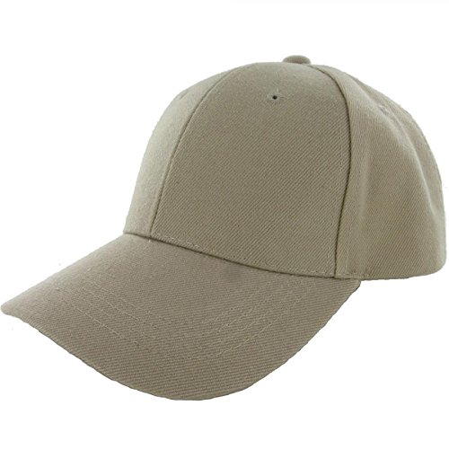 Khaki-100% Acrylic Plain Baseball Cap Baseball Golf Fishing Cap Hat Men Women Adjustable Velcro (US (Assassin Creed Costume For Kids Cheap)
