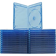 25 x Empty Standard Blue Replacement Boxes/Cases for Blu-Ray DVD Movies (DVBR12BR)