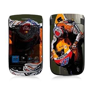 Diabloskinz B0039-0021-0032 Stoner noche Vinilo Piel für Blackberry Torch 9800 Series