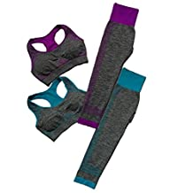 Women's 2 Pieces Fitness Sports Set Yoga Workout Sports Bra Pants Leggings Set