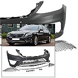 Complete Front Bumper Kit 2014-2017 Mercedes S Class AMG Style Chrome Trim W222