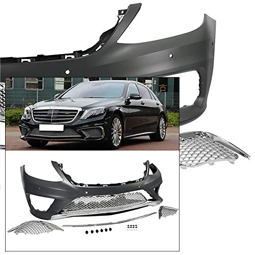 Complete Front Bumper Kit 2014-2017 Mercedes S Class AMG Style Chrome Trim W222 by Generic (Image #7)