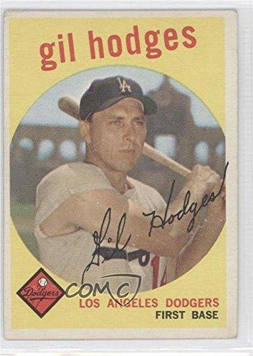 Amazoncom Gil Hodges Baseball Card 1959 Topps Base