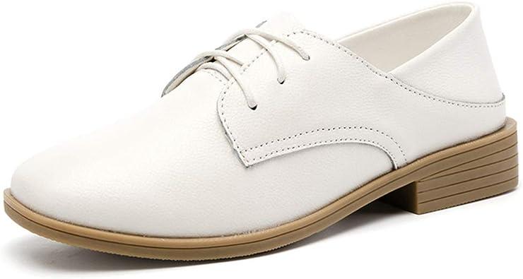 Femme Vintage Lacets British style richelieu à Casual derbies chaussures taille plus