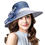 Lawliet Womens Kentucky Derby Church Wedding Tea Party Wide Brim Hat A490 - Best Reviews Guide