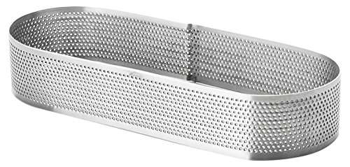 Oval Cake Ring - Lacor 68581 Perforated Oval Cake Mould, 7 x 20 x 3.5 cm, Silver