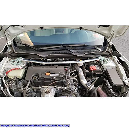 Steel//Aluminum, Polish, Front Upper Megan Racing Strut Bar Does Not fit Type-R//Hatchback Works with 16-19 Honda Civic