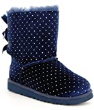 Ugg Kid's Bailey Bow Starlight Boot (5 Big Kid M, Navy)