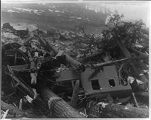 Photo: Train Wreck,caused by avalanche,Wellington,Washington,March 1910,Railroad,RR