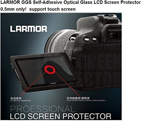 LARMOR GGS Self-Adhesive Optical Glass LCD Screen Protector for Canon 5DIII 5D3 5D Mark III 5Ds 5DSR