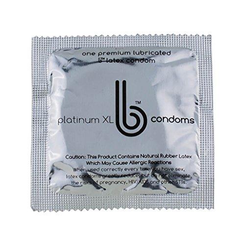 Best Condoms (b Condoms) - Platinum Extra Large Condoms - Sensitive Thin Lubricated Latex Condoms, Value Pack, 30 Count (3 Packs of 10 Condoms)