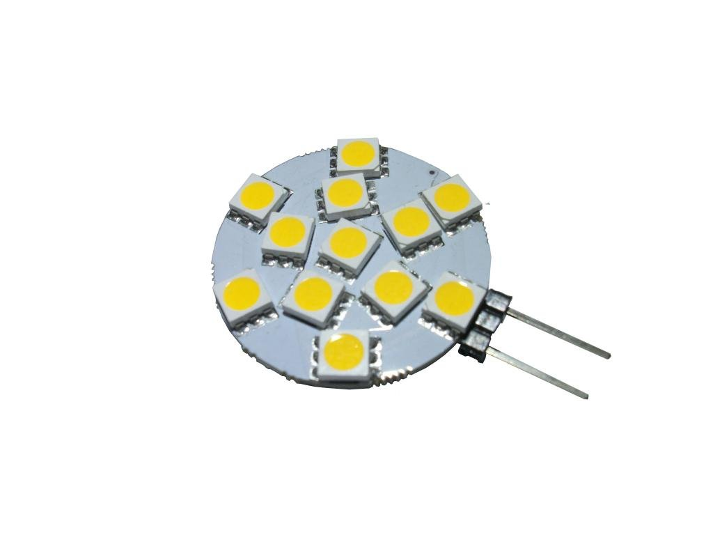 GRV G4 12-5050 SMD LED Bulb lamp Super Bright Warm White AC/DC 12V -24V Pack of 10