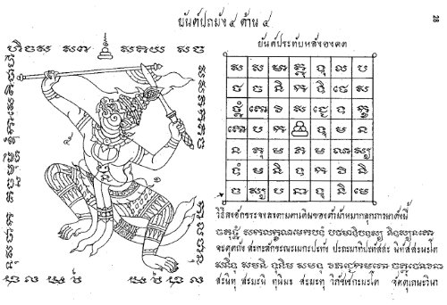 108 Sak Yant Book Thai Temple Tattoo Antique Pattern Yantra