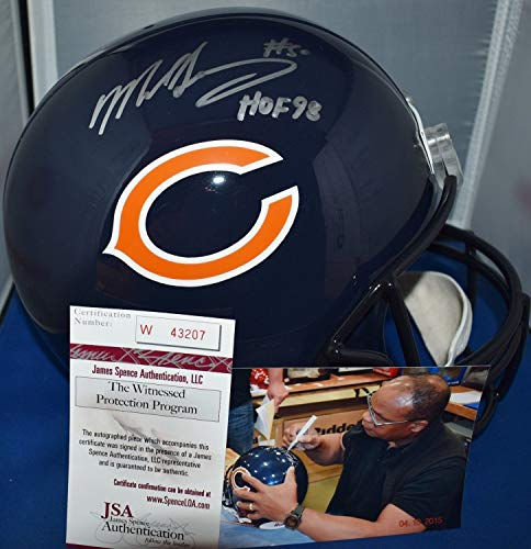 Mike Singletary Autographed Signed Autograph Full Size Replica Helmet Chicago Bears HOF 1998 JSA Authentic