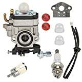 Venseri WYJ-138 WYK-186 Carburetor with Fuel Line Filter for Shindaiwa T242X T242 LE242 Echo SHC-260 SHC-261 PB-260L SRM260 SRM261 String Trimmer Carb
