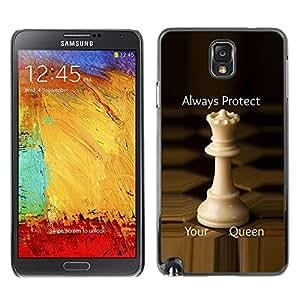 Be Good Phone Accessory // Dura Cáscara cubierta Protectora Caso Carcasa Funda de Protección para Samsung Note 3 N9000 N9002 N9005 // chess queen protect England strategy