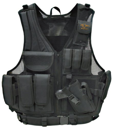 Galati Gear Standard Deluxe Tactical Vest (Black) - Left Handed Galati Gear