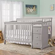Dream On Me 5-in-1 Brody Convertible Crib with Changer, Pebble Grey