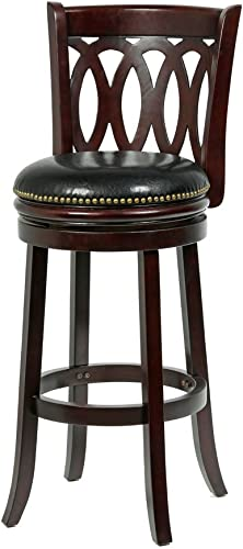 Mintra Cappuccino Finish Spiral Back 29-Inch Swivel Barstool