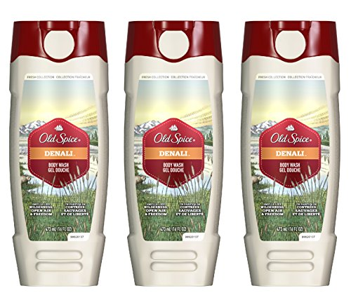 Old Spice Fresher Collection Men's Body Wash, Denali Scent, 16 oz/473 ml (Pack of 3)