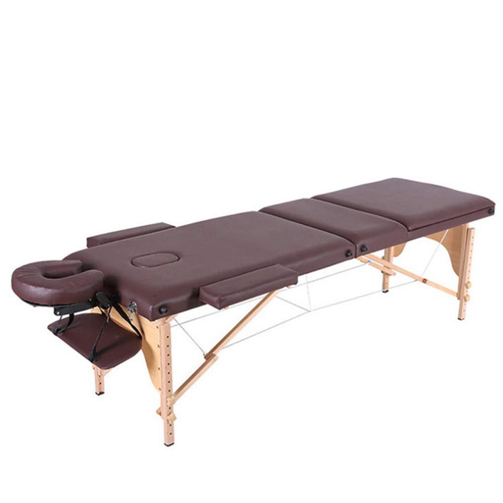 新しい折りたたみ式マッサージテーブル、スパのタトゥーポータブルテーブル/高級ソファ、ブラウン B07T4G539W  185cm*60cm(58cm-82cm)