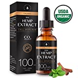 USDA Organic Hemp Extract for Pain & Anxiety Relief (100MG), Cinnamint Flavor, Full Spectrum, Blended with Organic Hemp Seed Oil for Optimal Absorption, CO2 Cold Extracted, Kosher, Vegan, GF, 1oz