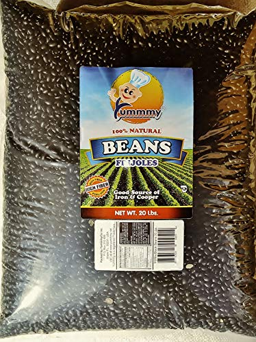Yummmy Black Beans - Turtle Beans, 20 lbs, Kosher certified
