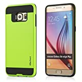 iHarbort® Smasung Galaxy S6 Edge Plus Case - Dual Layer & Brushed Finishing Protection with Combo Armor Defender Case Cover for Samsung Galaxy S6 Edge +/ Plus (Green)
