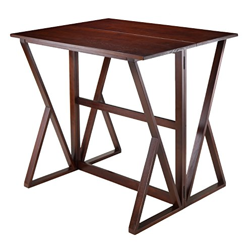Leg Extension Gathering Table - Winsome Wood Harrington Drop Leaf High Table